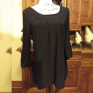 White House Black Market Shirt Solid Black